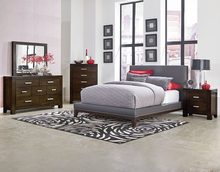 Gray and Brown Bedroom Suite, 3 and 5 Piece| Couture Gray Bedroom Set