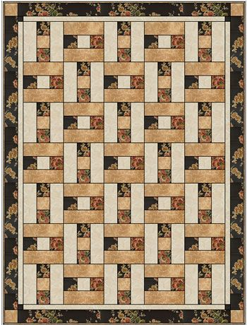 HOPSCOTCH 3 YD QUILT PATTERN, 3 yard quilt kits, like Fabric Cafe on facebook and get a free pattern download each month