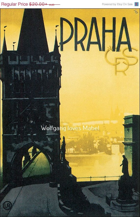 Holiday sale vintage retro praha crs prague by wolfganglovesmabel