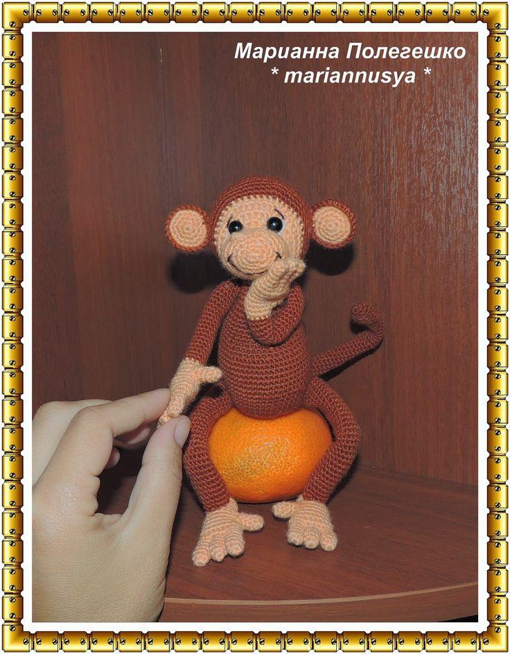mischievous monkey DIY (Озорная обезьянка Мастер класс)
