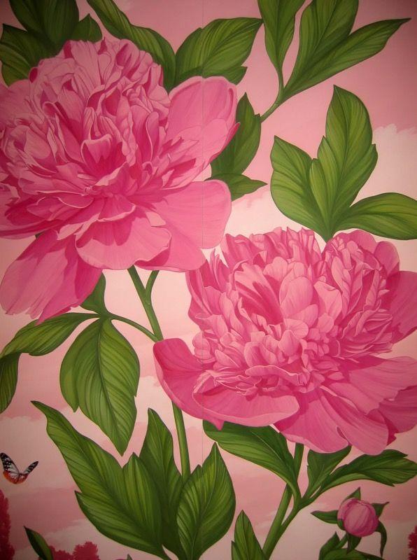 Painted wardrobe.#wardrobe #armadio #peonia #fiore #dipinto #peony