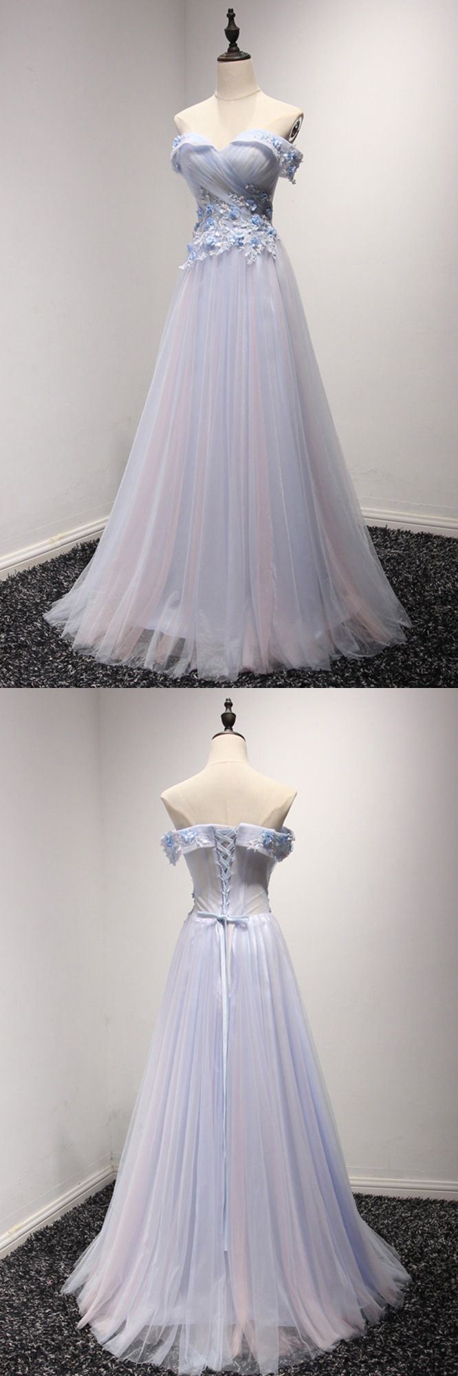 Only $149, Off The Shoulder Tulle Prom Dress Long In Two Tune Colors #AKE18004 at #SheProm. SheProm is an online store with thousands of dresses, range from Prom,Homecoming,Formal,Evening,Blue,A Line Dresses,Long Dresses,Off the Shoulder Dresses,Customizable Dresses and so on. Not only selling formal dresses, more and more trendy dress styles will be updated daily to our store. With low price and high quality guaranteed, you will definitely like shopping from us. Shop now to get $10 off!