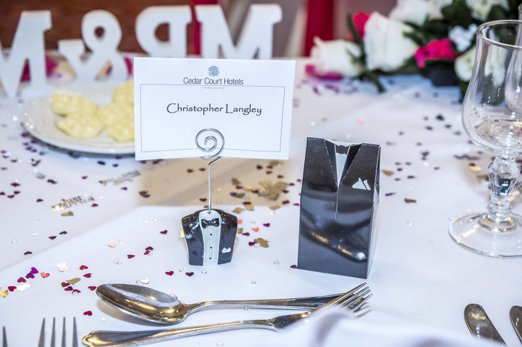 Simple 'Groom' box, filled with goodies to enjoy for your guests.