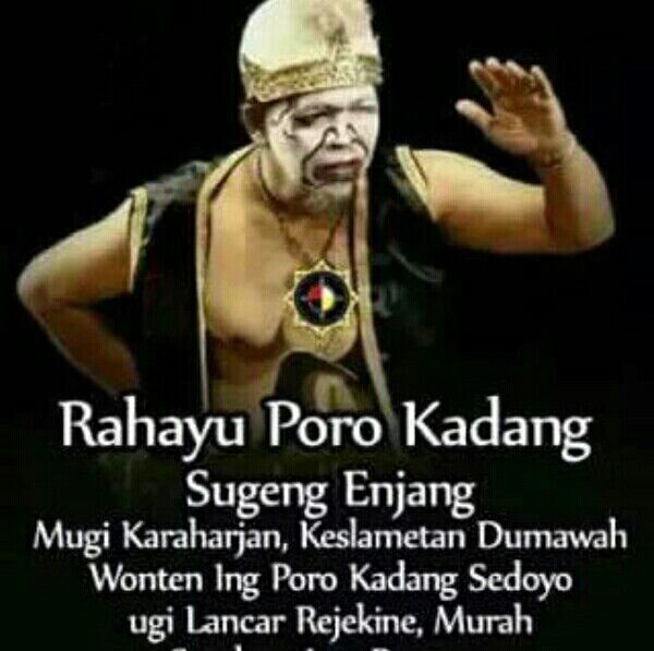 Dari wong Jawa untuk selamanya di grup.