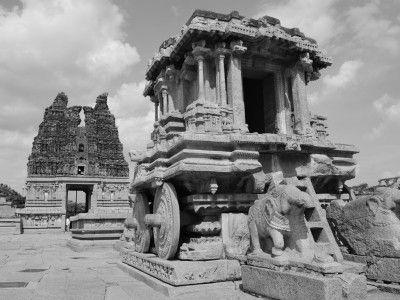 Kallu Ratha or Stone Chariot, Hampi, Karnataka, India #India #Kamalan #culture #photo #travel
