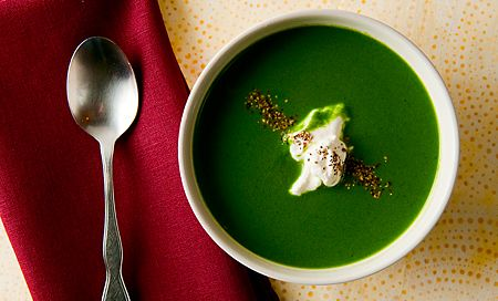 nettle soup recipe over