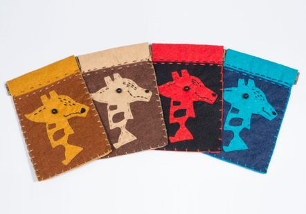Hand made giraffe velt purses - 2544