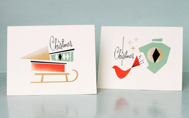 by Darling Clemetine. Christmas cards.