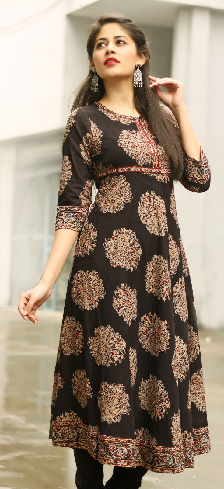 effortless style with this #black #printed #kurta