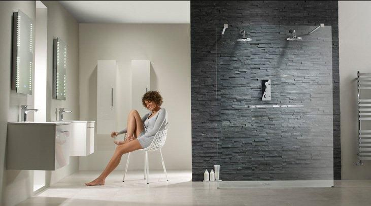 fürdőszoba trend 2015 Walk-in zuhanyzó