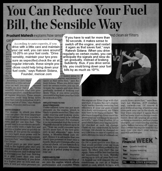 You can reduce your fuel bill by as much as 20%, the sensible way  http://www.mericar.com/reduce_your_fuel_bill.php