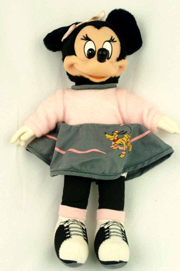 Vintage Disney Minnie Mouse Doll Sock Hop