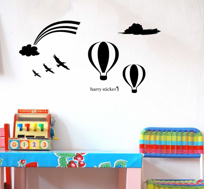 wallsticker air-balloon Wallpaper interior Design