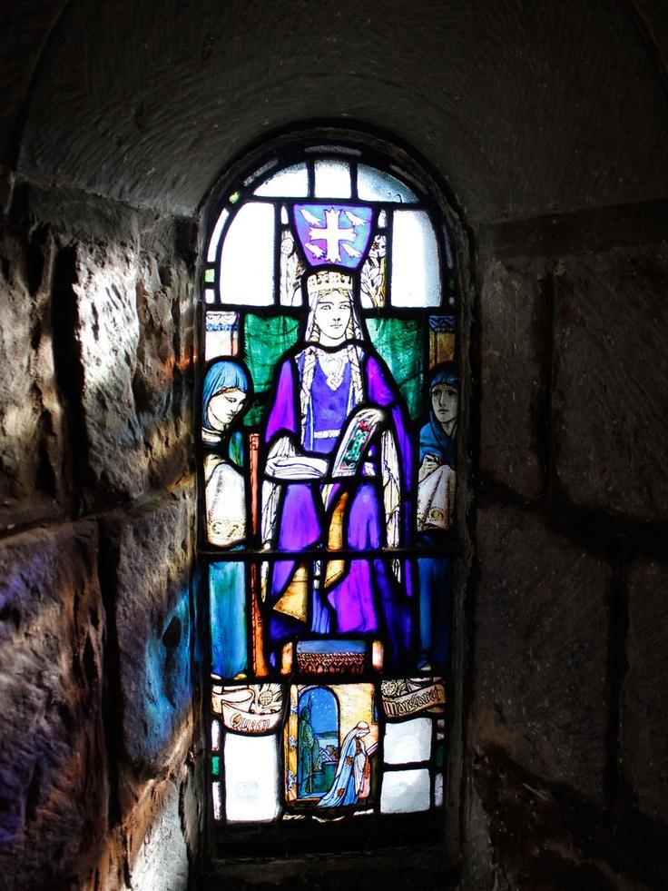 Stained Glass Window, St. Margaret's Chapel, Edinburgh Castle | Love & Adventure