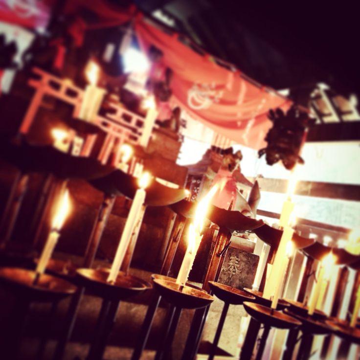 和蝋燭@伏見大社