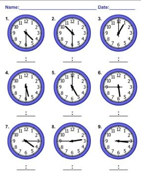 Time Worksheets telling time worksheets spanish : 1000+ images about LES HORES on Pinterest | To tell, Blank clock ...