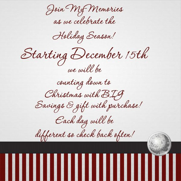 Mymemories holiday festival,sign up for their newsletter on the hme page so you don't miss out https://www.mymemories.com/store/designers/Lins_Creations?r=Lins_Creations