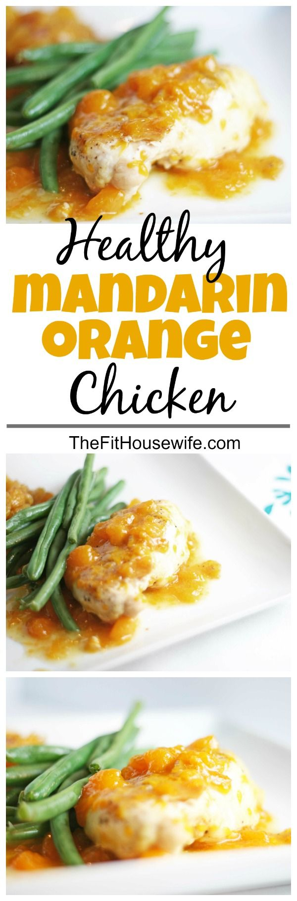 Mandarin Orange Chicken. A simple, healthy, and delicious meal. Perfect for a quick weeknight dinner.