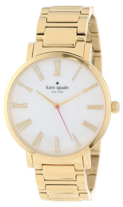 Kate Spade Watches Women's 1YRU0218 Large Gold Roman Numerals Gramercy Watch: Watches: Amazon.com $225.00