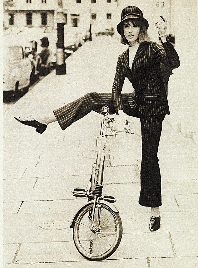 Pinstripe trouser suit, 1964 - 'This was one of the first designs we worked on. It was dee...