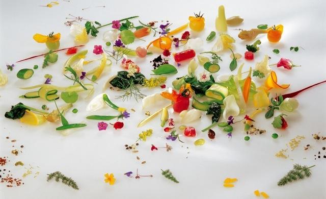 Gargouillou de jeunes légumes, Michel Bras