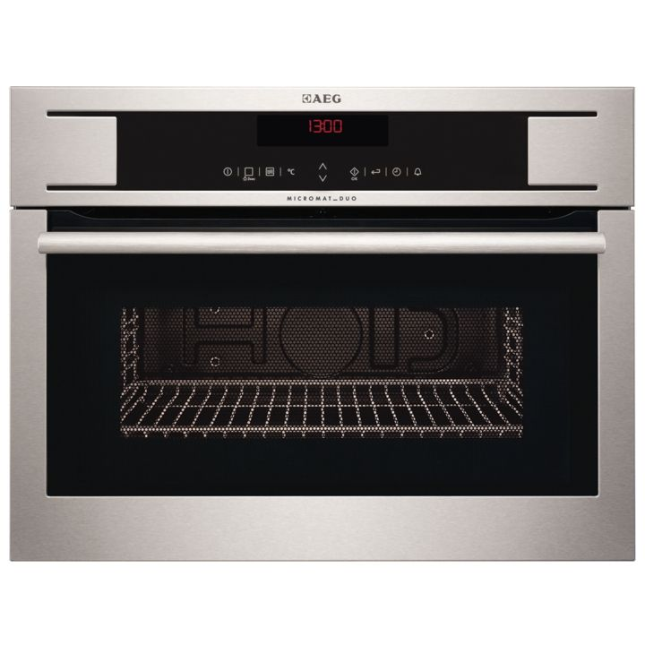Aeg Kr8403101m Built In Microwave Grill For Tall Housing Stainless Steel
