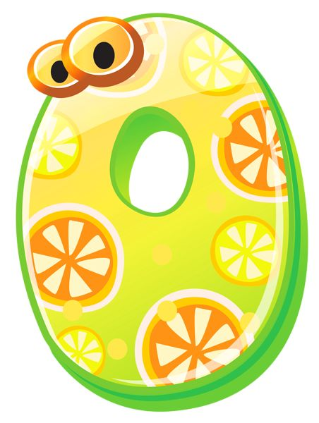 Cute Number Zero PNG Clipart Image