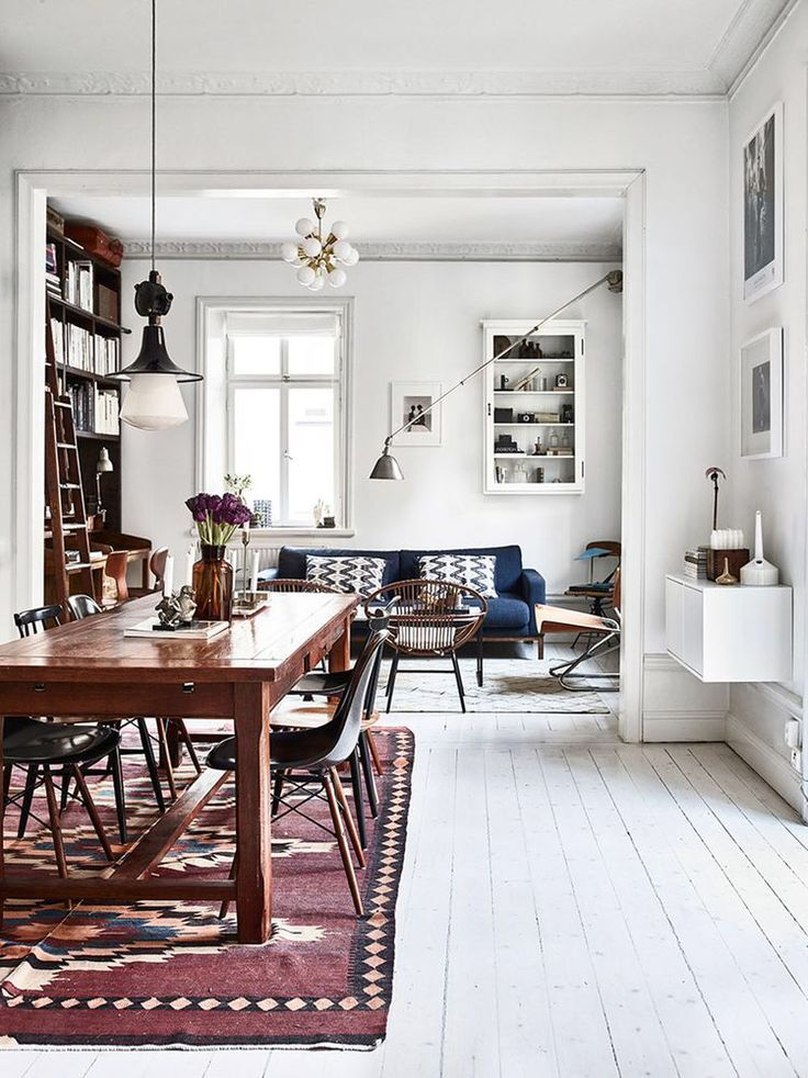 Dining Room Ideas | whiteness | chairs | lighting | pure | harmony | Mmore inspirations at https://brabbu.com/
