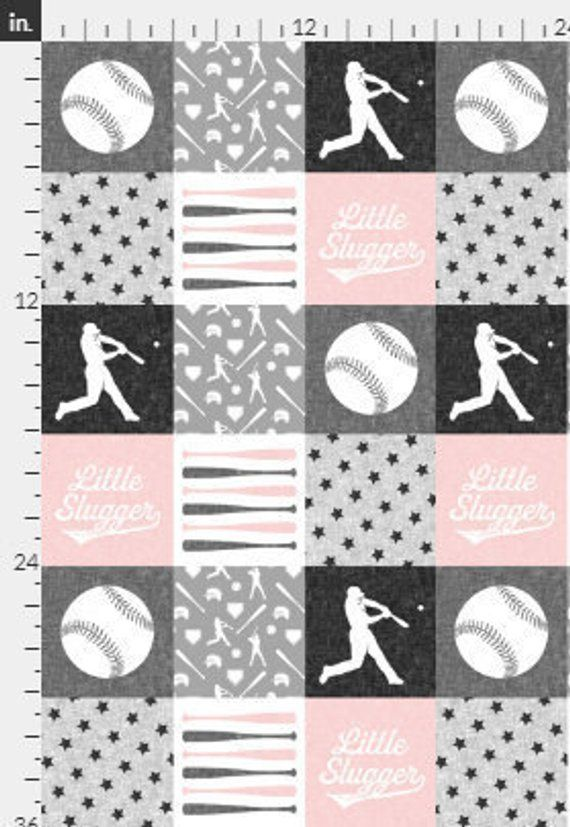 Softballs on Pink with Gray Blanket