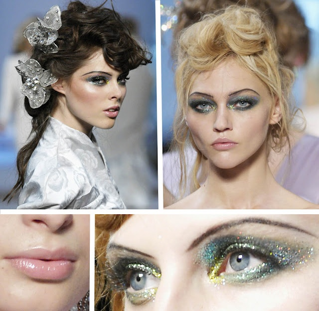 Glittery faery makeup: Dior Spring, Fashion, Make Up, Christian Dior, Makeup, Runway, Beauty, Hair, Eye