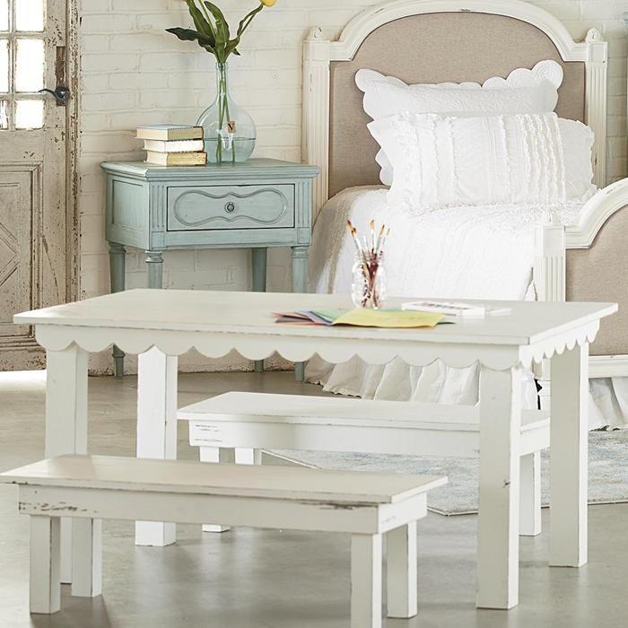 Farmhouse Kid Table in Jo's White   Nebraska Furniture Mart