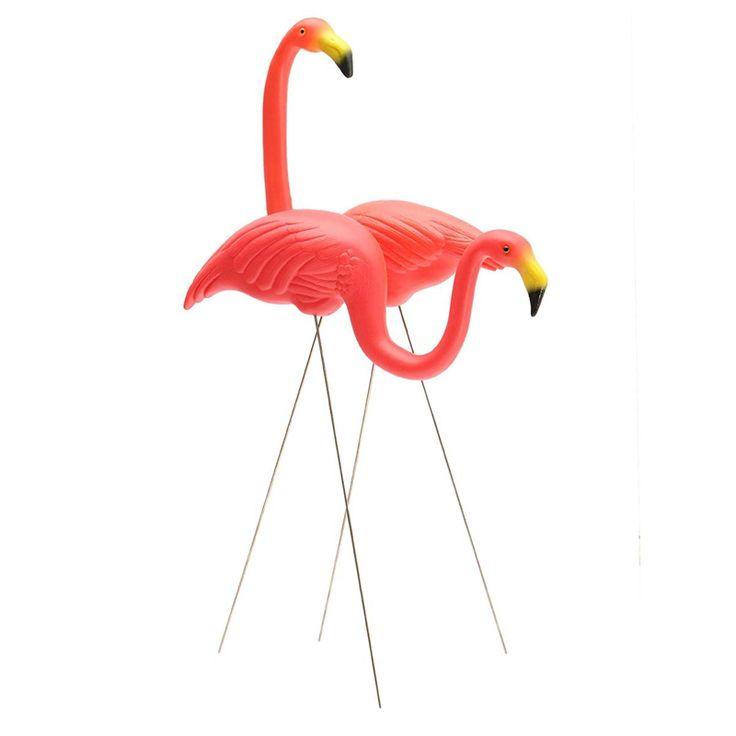 2 STKS Heldere Kleur Rode Plastic 86 cm Flamingos Home Yard Tuin Gazon Art Ornamenten Decoratie Voor Huwelijksceremonie Decor(China (Mainland))Kan ook bij www.catootje!!!!