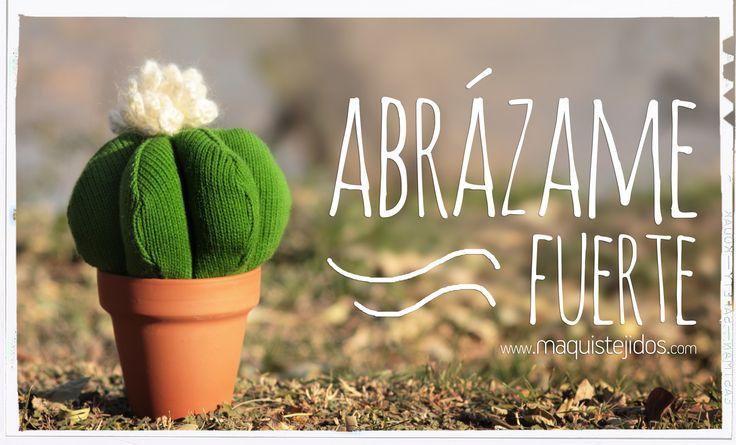 Cactus tejido abrazable