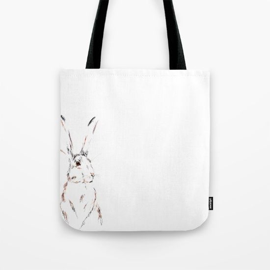 Hare Today III Tote Bag by Art By Chrissy Taylor - $22.00
