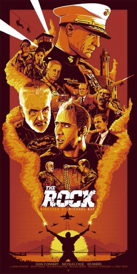 AMO esta peli! Movie Poster: The Rock. Nicolas Cage, Sean Connery y Ed Harris