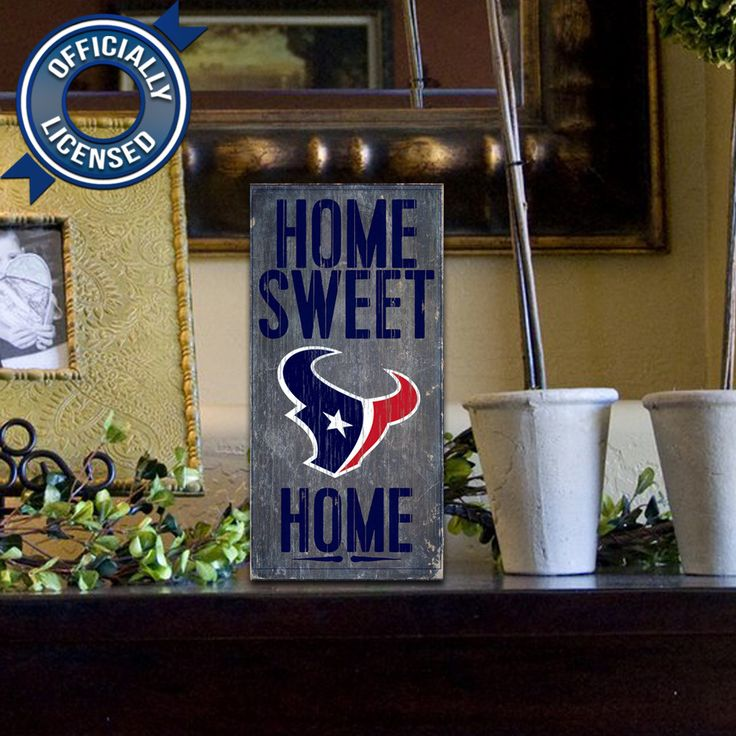 Officially Licensed Houston Football Home Sweet Home Sign