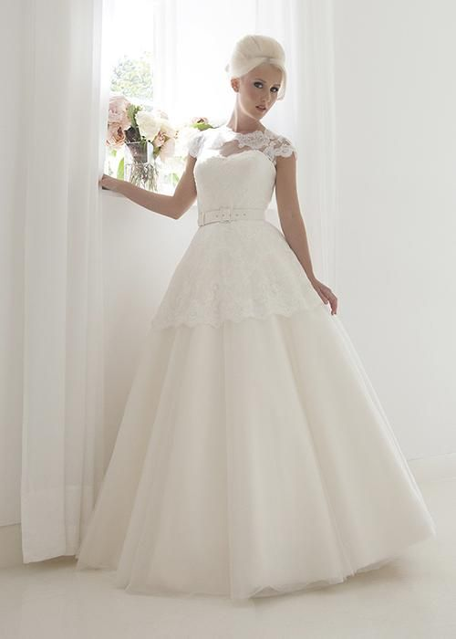 2016 House Of Mooshki Chapel Wedding Dresses Full Ball Gown Wedding Gowns Tulle And Lace Cap Sleeves Bridal Dress With Lace Short Peplum Wedding Dress Hire Wedding Dress Outlet From Uniquebridalboutique, $155.47| Dhgate.Com