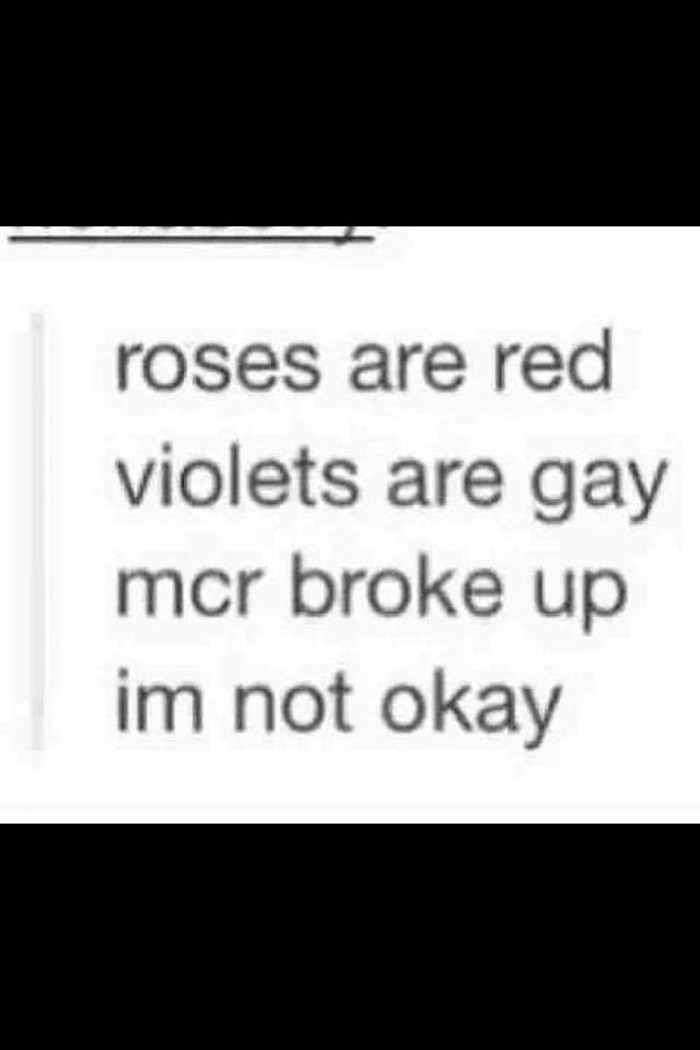 Violets arent rlly gay. No offense intended ;) it rhymes so thts all tht matters