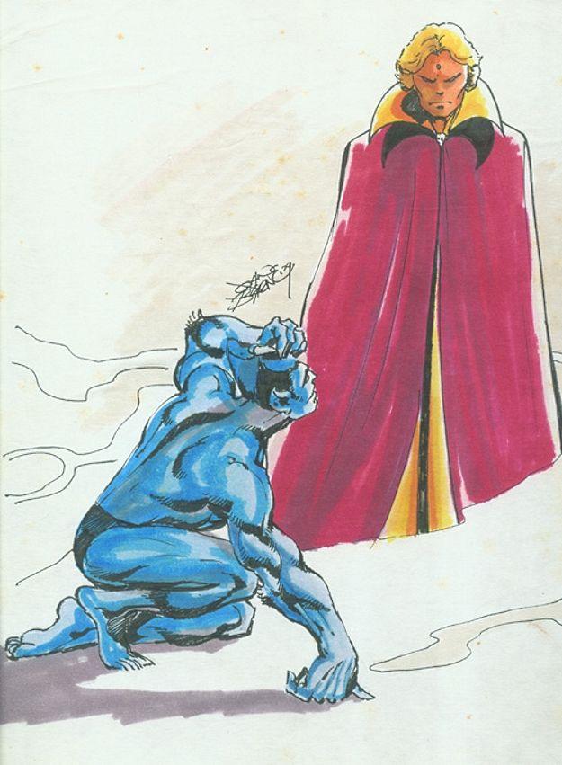 Beast & Adam Warlock by John Byrne. 1979.
