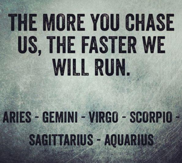 Aries - Gemini - Virgo - Scorpio - Sagittarius - Aquarius