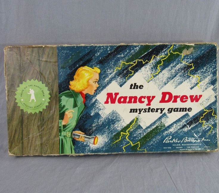 The Nancy Drew Mystery Game Vintage 1957 Complete Boardgame Parker Brothers #ParkerBrothers