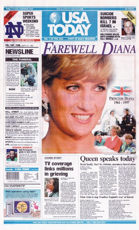 Princess Diana died on August 31, 1997