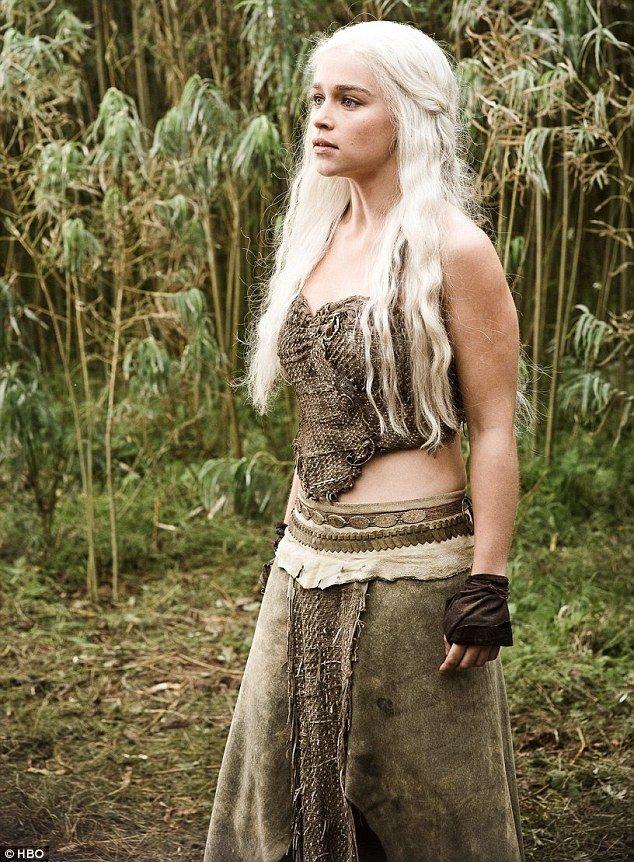 Emilia Clarke Daenerys Targaryen Game Of Thrones Khaleesi