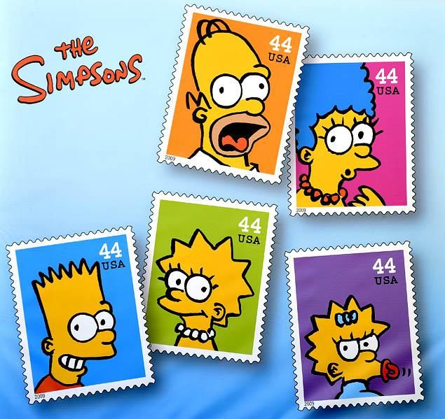 "D'oh: Postage stamps of ""The Simpsons"" did not go postal the way Elvis did."