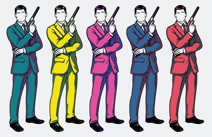 Archer. Sterling Archer. Illustration by Brooke Cassity