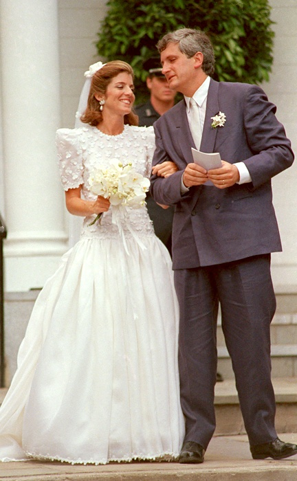 July 19, 1986 photo of Caroline Kennedy and Edwin Schlossberg on their wedding day in Centerville, Mass.