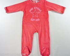 Dors-bien pyjama grenouillère velours rouge étoile DPAM 18 mois filles