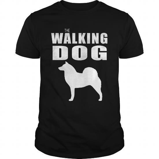 Cool  THE WALKING DOG Finish Spitz T shirts