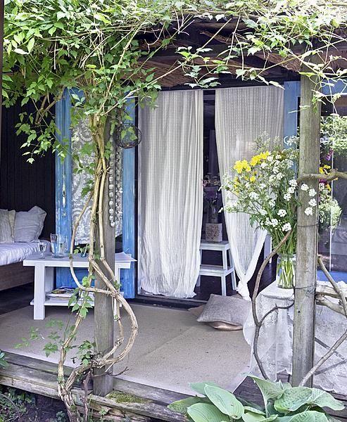 veranda in bloom.