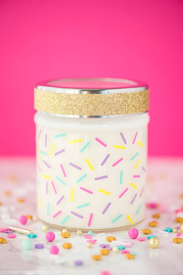 Marvelous Diy Birthday Cake Jar Candle Diy Candles Scented Mason Jar Funny Birthday Cards Online Fluifree Goldxyz